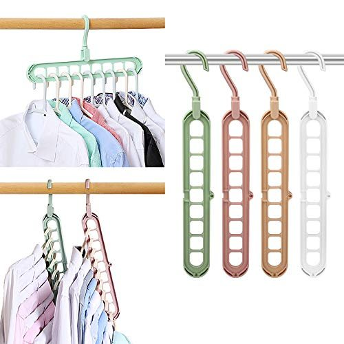 Magic space saving clothes hangers