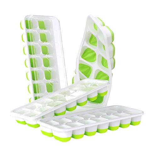Easy-release silicone ice cube trays