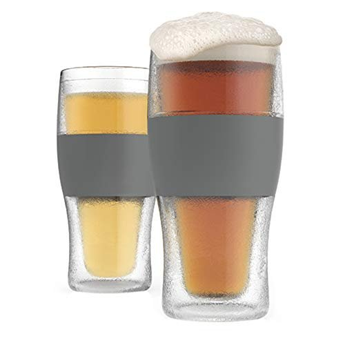 Set of two frozen pint glasses