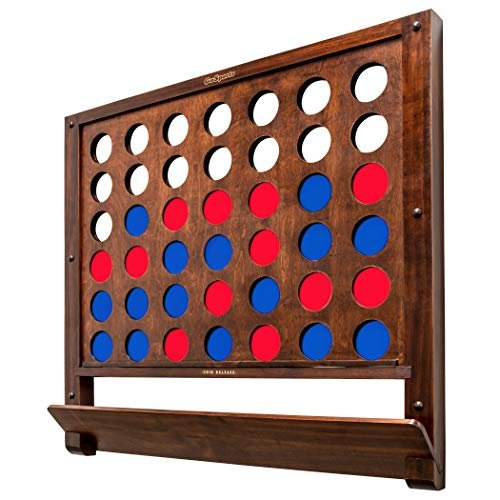 Wall-mounted giant 4-in-a-row game