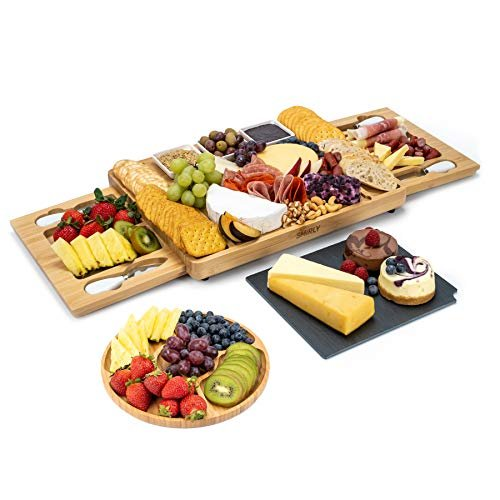 Large Charcuterie Board with Cutlery Set