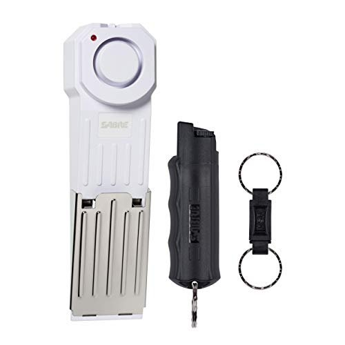 Safety kit with door stop alarm