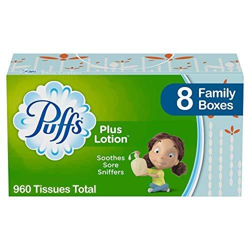 Puffs plus lotion tissues