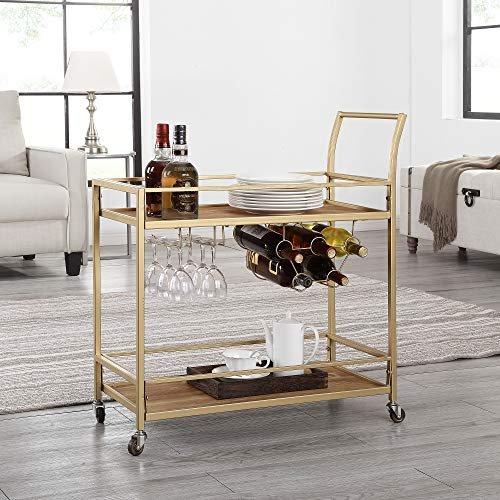 Classy gold bar cart