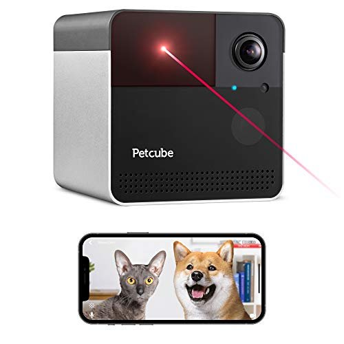 Wi-Fi pet camera with laser toy & Alexa compatibility