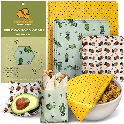 HUNNYBEEE Beeswax Reusable Food Wraps