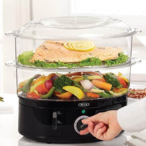 Healthy food steamer with stackable baskets