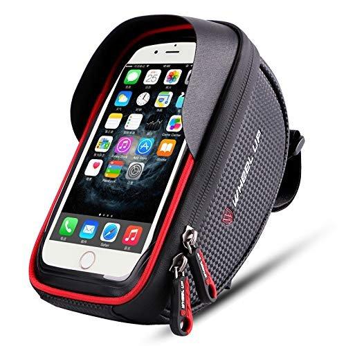 Waterproof phone mount with storage