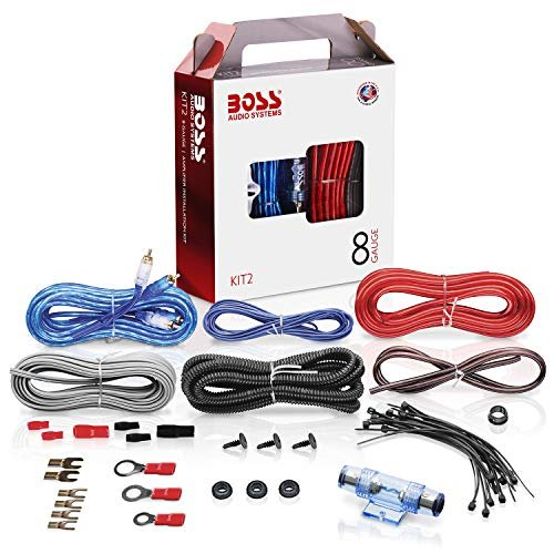 Amplifier installation kit to power your radio, subwoofers and speakers