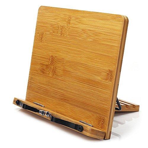 Bamboo cookbook stand