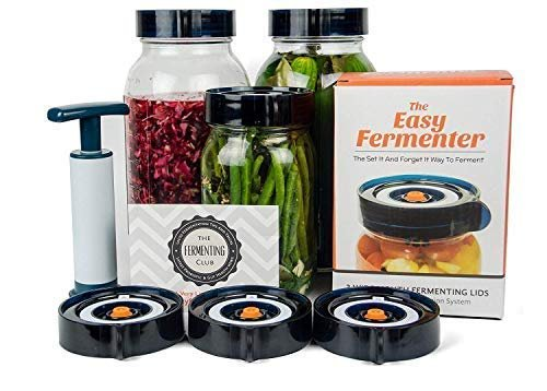 Easy fermenter kit with lids, extractor pump and recipes (jars not included)
