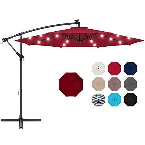 Patio Umbrella with solar-powered LED lights