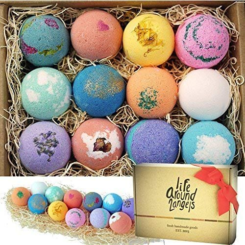 Handmade bath bombs with pleasant scents