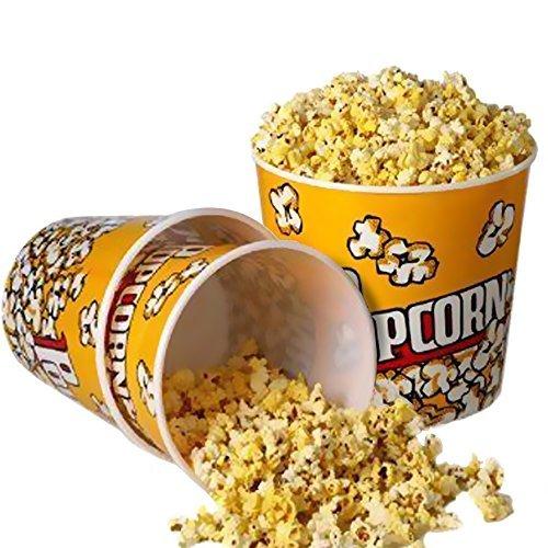 Retro plastic popcorn containers