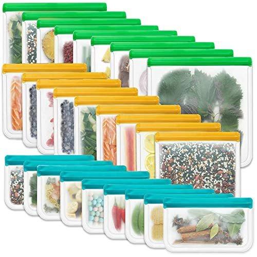 27 Pack Leak-Free Reusable Storage Bags