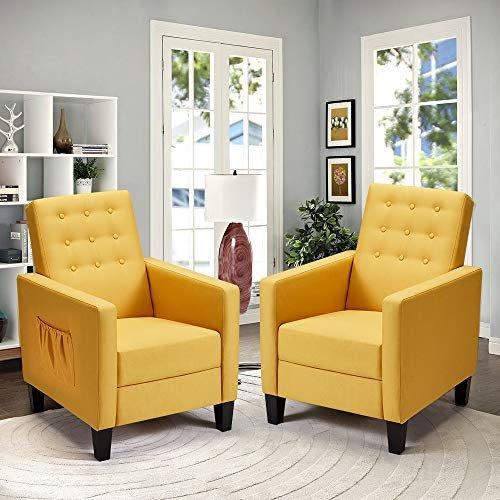 Mid-century modern fabric recliners