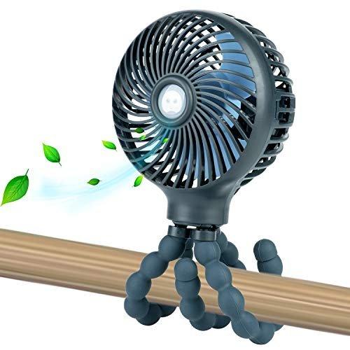 Mini personal fan with flexible tripod