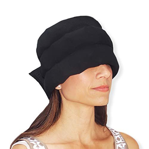 Wearable ice pack for headache relief