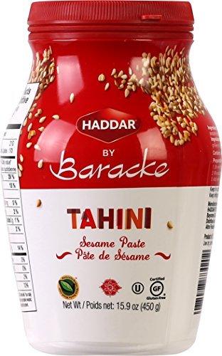 Haddar by Baracke 100% Pure Ground Sesame Tahini 15.9oz Jar (1 Pack)