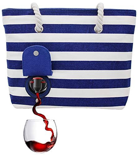 Wine purse holds two bottles of wine