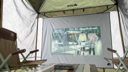 ロゴスの新作はシネマスクリーン! テントが映画館に変身するぞ   ROOMIE(ルーミー)