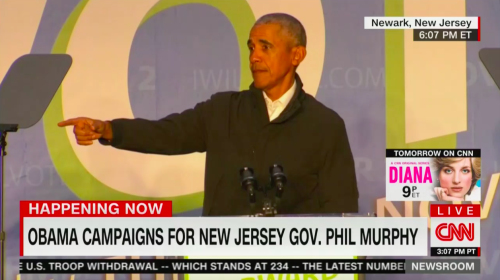 Obama Slams N.J. Gov. Candidate For Not Knowing He Was At 'Stop the Steal' Rally: 'This Isn't a Neighborhood Barbecue'