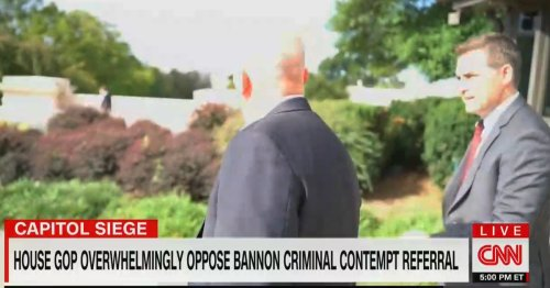 WATCH: Jim Acosta Literally Chases Republicans to Ask Why They Opposed Holding Bannon in Contempt