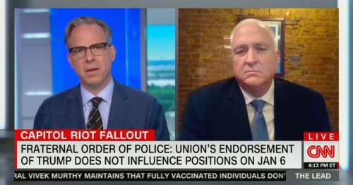 Tapper Grills Fraternal Order of Police President: Why Aren't You Publicly Defending the Capitol Officers 'Being Smeared'?