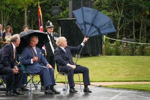 Boris Johnson Umbrella Video Goes Viral for Comedic Reasons
