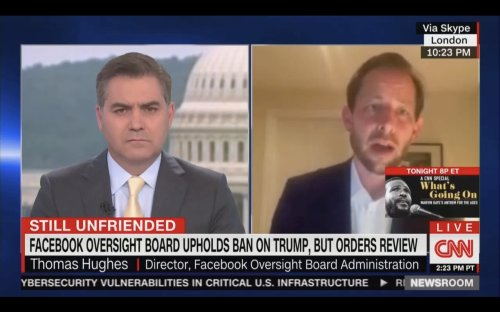 CNN's Jim Acosta Grills Director of Facebook Oversight Board, Asking Same Question Five Times: 'You Are Saying The Same Thing Over and Over Again'