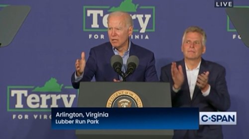 Biden Hits GOP's 'Fear, Lies' at Rally, Says It's 'Bizarre' That Republicans Downplay January 6