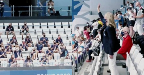 WATCH: U.S. Olympic Swim Team Chants Adoringly for First Lady Dr. Jill Biden