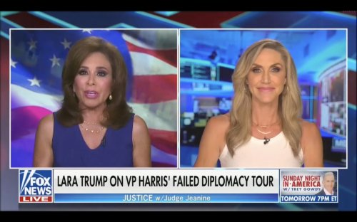 Lara Trump Tells Judge Jeanine that Americans Living Along Border 'Better Arm Up and Get Ready,' They Might 'Have to Take Matters Into Their Own Hands'