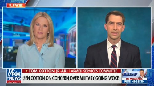 Tom Cotton Tells Fox News the U.S. Military Might 'Not Be Sufficiently Prepared' for Battle Because It's Teaching Critical Race Theory