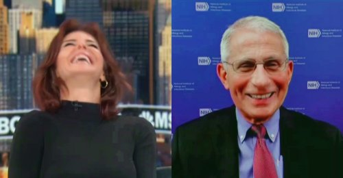 WATCH: Fauci's Reaction to Trump's Hot-Off-the-Presses Facebook News Gets Laugh from Steph Ruhle