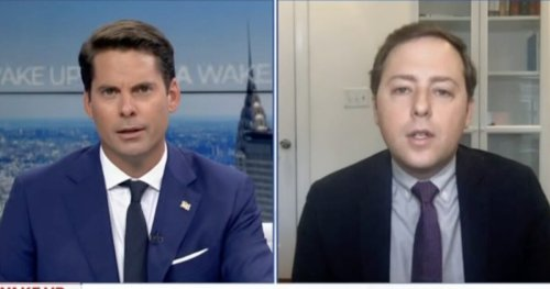 Rob Finnerty Abruptly Ends Interview After Guest Destroys Newsmax For False Election Claims: 'Are You Still Telling that Lie?'