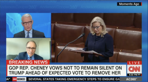 CNN: Almost All of Liz Cheney's GOP Colleagues Cleared Out of House Floor Before Her Speech
