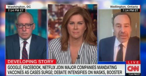 David Frum Slams Unvaxed People Who Claim Discrimination: 'Being an Antisocial Jerk Is Not a Protected Category'