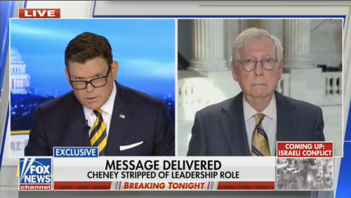 'I'm Going to Try One More Time': Fox's Bret Baier Repeatedly Grills Mitch McConnell Over House GOP Ousting Cheney