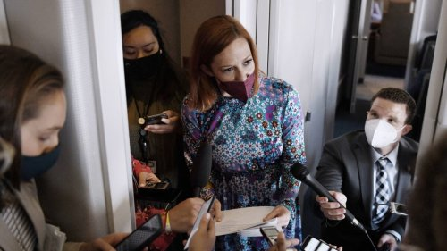 Reporter Asks Jen Psaki About Trump Team's Jan. 6 Memo at Air Force One Briefing: 'Is American Democracy Threatened?'