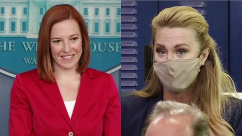 'Who's Saying That?' Watch Jen Psaki Bust Newsmax Reporter for Vague Claim About a 'Growing Perception'