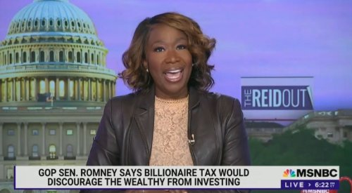 Joy Reid Bashes 'Grim Reaper' Mitch McConnell for Opposing Billionaires' Tax: 'He Invested Wisely In Marrying a Really Rich Woman'