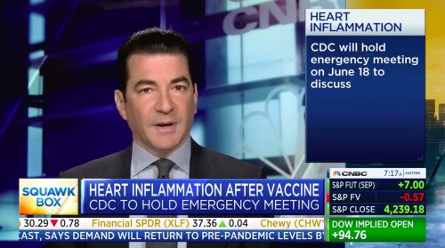 Pfizer's Scott Gottlieb Weighs in on Emergency CDC Meeting to Address Cases of Heart Inflammation After Vaccination