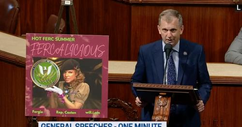 WATCH: Democratic Congressman Gets Cringe in Viral Speech About 'FERCalicious' Summer