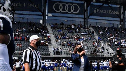 WATCH: Crowd Roars as VP Kamala Harris Flips Coin For Historic Howard U Football Game