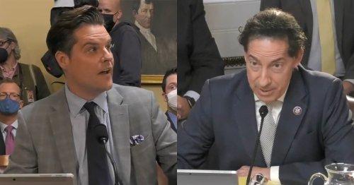 'BLAH BLAH BLAH': Jamie Raskin and Matt Gaetz Throw Down for 10 Minutes Over January 6, Trump's Big Lie