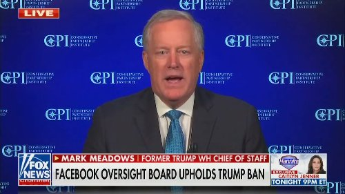 Mark Meadows Calls for Government Regulation After Trump's Facebook Ban Decision: 'Time to Break Up Big Tech'