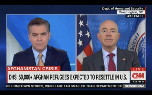 'We're Welcoming Afghans, But We're Sending Haitians Back': Jim Acosta Asks DHS Secretary Mayorkas About 'Contradiction' In Refugee Policy