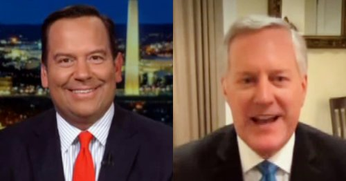 WATCH: Mark Meadows Says Trump Meeting with 'Cabinet Members' at Jersey Golf Club About 'Moving Forward in a Real Way'