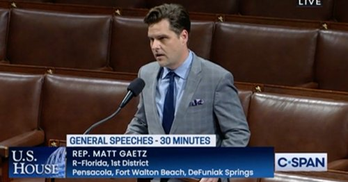 'I Think Someone May Be Trying to Kill Me': Matt Gaetz Says He Got Death Threat in House Floor Speech